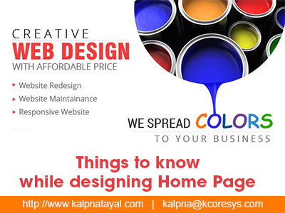 designing Home Page