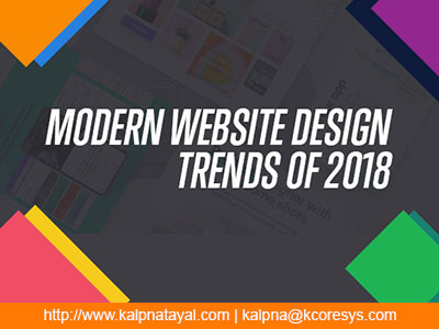 Modern Website Design Trends Of 2018